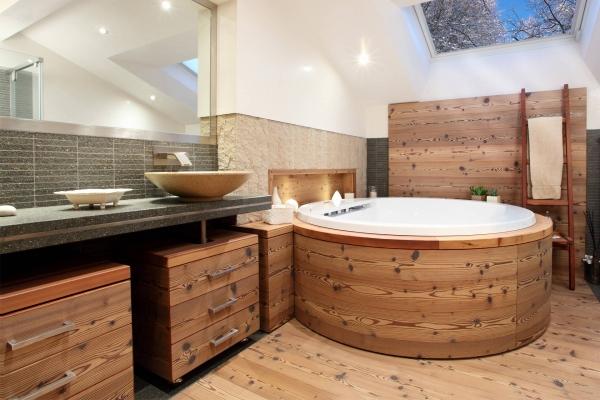 bagno legno larice su misura