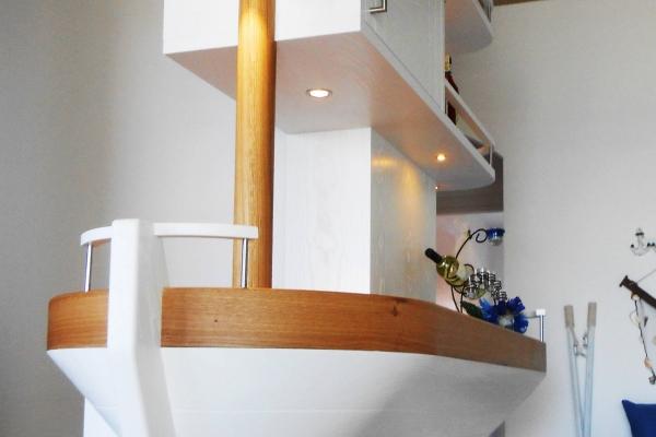 bancone legno personalizzato nave