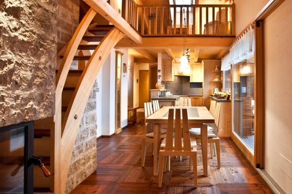 living legno naturale travi a vista