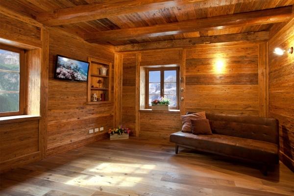 stube legno casa montagna maso