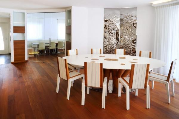 tavolo legno bianco living soggiorno casa